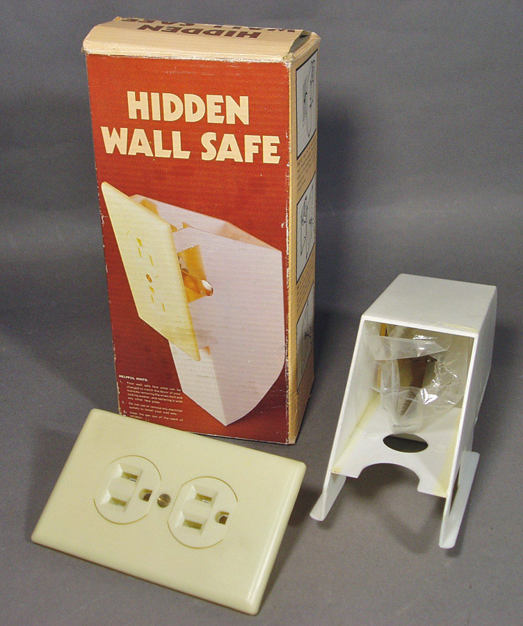 Hidden wall safe fake outlet plate funny supply False wall safe