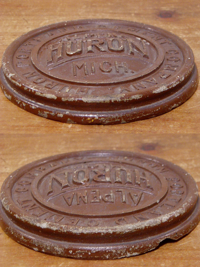 Huron Portland Cement : Early s quot huron portland cement co paper weight 雑貨