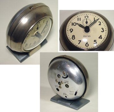"画像1: 1930's Art-Deco ""BABY BEN"" mini Desk Clock"