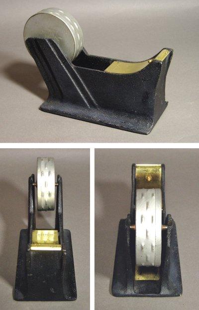 "画像1: 1940-50's ""STREAMLINE"" Iron Tape Dispenser 【Black】"
