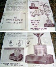 画像2: 1940-50's Paper Weight&Postal Scale【BLACK×SILVER】 (2)