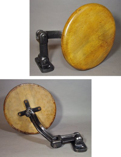 "画像2: 1910-30's Wall Mount ""Swing Out"" Stool"