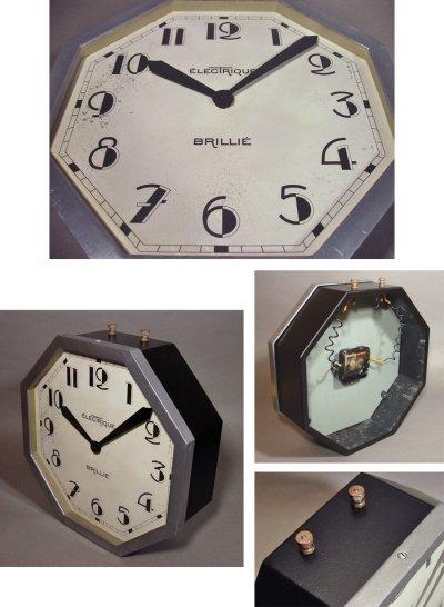 """画像2: 1930's French """"Art Déco"""" Octagon Wall Clock"""