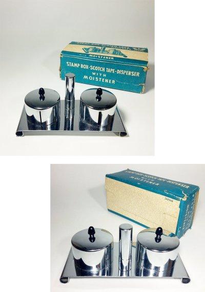 画像1: 【処分品】 1940-50's Stamp Box&Tape Dispenser【Dead Stock】