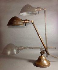 """画像3: 1910-20's """"O.C.White"""" Brass Telescopic Desk Lamp 【PROPERTY - B of E - N.Y.CITY】 (3)"""