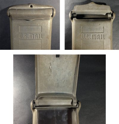 "画像2: 1940-50's  ""Shabby"" Wall Mount Mail Box"