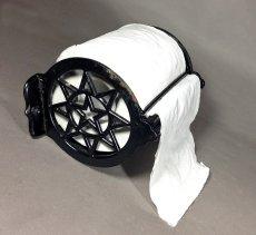 """画像5: Around 1900's """" ☆STAR☆ """" Cast Iron Toilet Paper Holder (5)"""