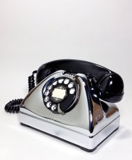 画像3: - 実働品 - 1940-early 1950's U.S.ARMY Chromed Telephone 【BLACK × SILVER】 (3)
