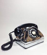 画像2: - 実働品 - 1940-early 1950's U.S.ARMY Chromed Telephone 【BLACK × SILVER】 (2)