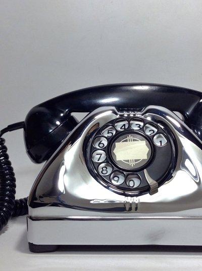 画像1: - 実働品 - 1940-early 1950's U.S.ARMY Chromed Telephone 【BLACK × SILVER】