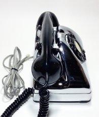 画像4: - 実働品 - 1940-early 1950's U.S.ARMY Chromed Telephone 【BLACK × SILVER】 (4)