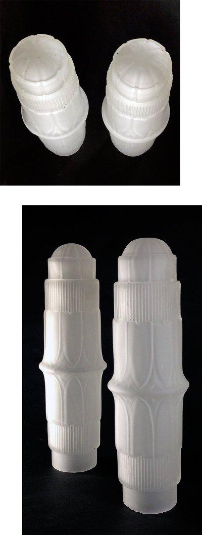 """画像2:  1930-40's Art Deco """"Frosted Glass"""" Table Lamp【PAIR】"""