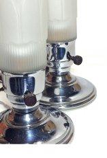 """画像3:  1930-40's Art Deco """"Frosted Glass"""" Table Lamp【PAIR】 (3)"""