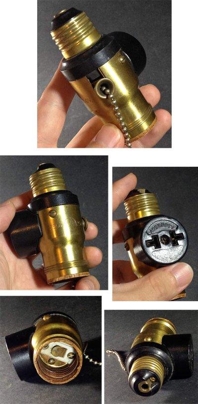 画像3: 1920's【Hubbell】Light Socket Outlet