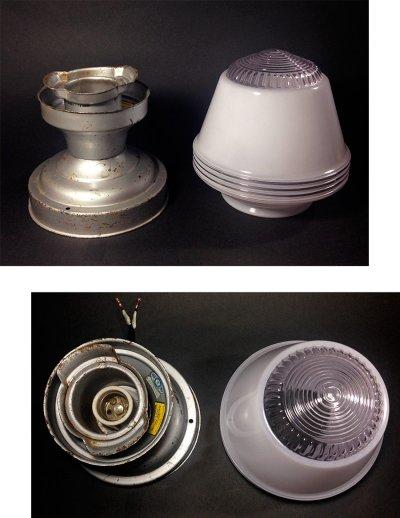 """画像3: 1950's """"Art-Deco"""" Milk Glass Ceiling Lamp"""