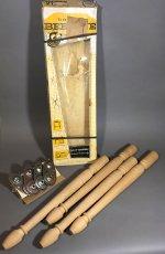 """画像1: 1950-early 60's """"Bee Line"""" Natural Wood Legs (1)"""