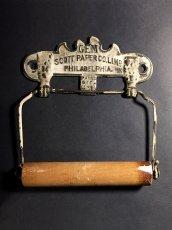 """画像5: PAT.1891 """"GEM"""" Cast Iron Toilet Paper Holder【Scott Paper Co.】 (5)"""