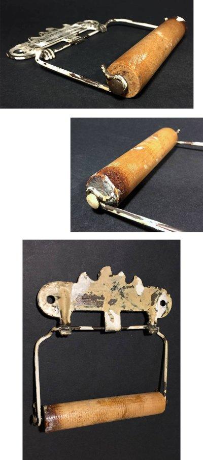 """画像2: PAT.1891 """"GEM"""" Cast Iron Toilet Paper Holder【Scott Paper Co.】"""