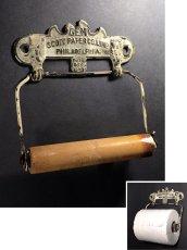 """画像1: PAT.1891 """"GEM"""" Cast Iron Toilet Paper Holder【Scott Paper Co.】 (1)"""