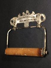 """画像2: PAT.1891 """"GEM"""" Cast Iron Toilet Paper Holder【Scott Paper Co.】 (2)"""