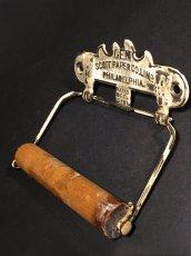 """画像4: PAT.1891 """"GEM"""" Cast Iron Toilet Paper Holder【Scott Paper Co.】 (4)"""