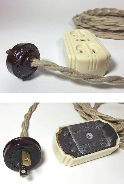 """画像2: 1940's """"Extension Cord"""" Bakelite 3-Outlet【残り一台です】"""