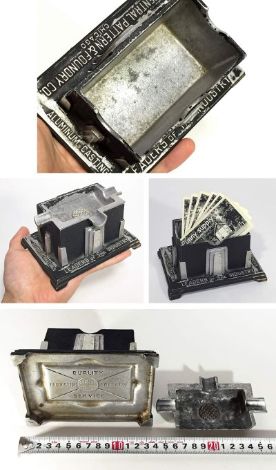 "画像3: 1920-30's Art Deco ""SKYSCRAPER"" Cast Aluminum Ashtray"