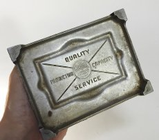 "画像5: 1920-30's Art Deco ""SKYSCRAPER"" Cast Aluminum Ashtray (5)"