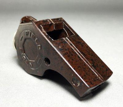 """画像1: 1940-50's """"FIELD SIREN"""" Marbled Bakelite Whistle"""