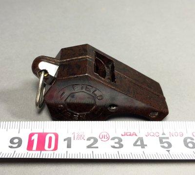 """画像3: 1940-50's """"FIELD SIREN"""" Marbled Bakelite Whistle"""