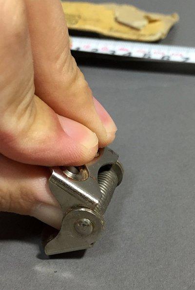 画像3: 5 Nickel Plated Steel Small Spring Hinges