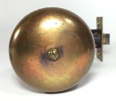 画像6:  Early-1900's【BELL】built-in Bell Doorknob  (6)