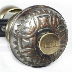 画像2:  Early-1900's【BELL】built-in Bell Doorknob  (2)