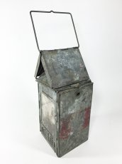 "画像11: 1910-20's ""Galvanized Steel"" Folding Candle Lantern (11)"