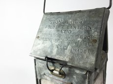 "画像2: 1910-20's ""Galvanized Steel"" Folding Candle Lantern (2)"