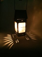 "画像14: 1910-20's ""Galvanized Steel"" Folding Candle Lantern (14)"