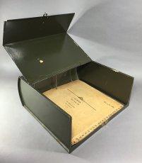 """画像5: 1930's """"ASCO N.Y."""" Steel File Box【 FAT !! 】 (5)"""