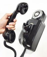 "画像4: - 実働品 - 1930's ""Very!! Art Deco"" Streamlined Bakelite Telephone (4)"