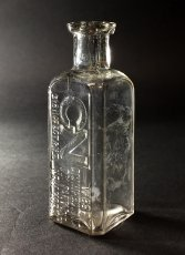 "画像1: 1910-20's ""West Disinfecting Co. N.Y."" Glass Bottle (1)"
