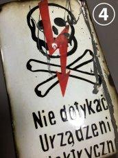 """画像11: 1930-50's Enameled """"FuNNY SKuLL&CROSsBONE"""" Sign【10枚バラ売り】 (11)"""