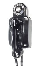 "画像1: - 実働品 - 1930's ""Very!! Art Deco"" Streamlined Bakelite Telephone (1)"