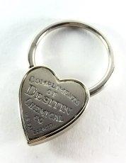 画像3:  1940's  ♡Heart Shaped♡ Advertising Key Ring  (3)