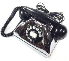 画像7: - 実働品 - Early 1950's U.S.ARMY Chromed Telephone 【BLACK × SILVER】 (7)