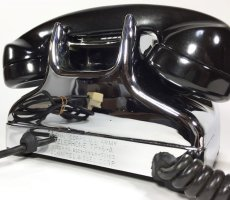画像14: - 実働品 - Early 1950's U.S.ARMY Chromed Telephone 【BLACK × SILVER】 (14)