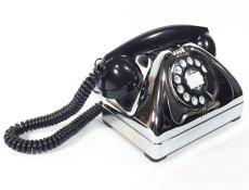 画像9: - 実働品 - Early 1950's U.S.ARMY Chromed Telephone 【BLACK × SILVER】 (9)