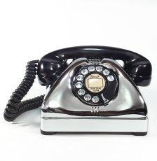 画像2: - 実働品 - Early 1950's U.S.ARMY Chromed Telephone 【BLACK × SILVER】 (2)