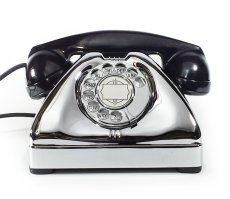 画像2: - 実働品 - Early 1950's U.S.ARMY Chromed Telephone 【BLACK × SILVER】 (2)