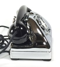 画像10: - 実働品 - Early 1950's U.S.ARMY Chromed Telephone 【BLACK × SILVER】 (10)