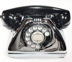画像8: - 実働品 - Early 1950's U.S.ARMY Chromed Telephone 【BLACK × SILVER】 (8)