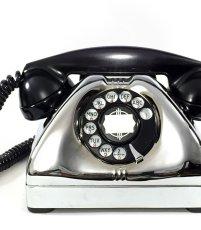 画像1: - 実働品 - Early 1950's U.S.ARMY Chromed Telephone 【BLACK × SILVER】 (1)